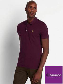 lyle-scott-plain-polo-shirt-burgundy
