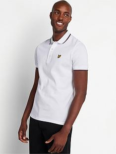 lyle-scott-tipped-polo-shirt-white