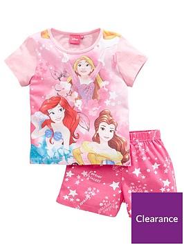 disney-princess-girls-full-front-print-shortie-pjs-pink