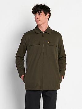 lyle-scott-cotton-nylon-overshirt-green