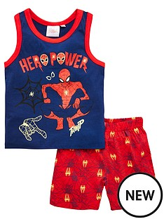 spiderman-boysnbspvest-and-shorts-pjs-navy