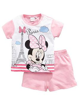 minnie-mouse-baby-girl-minnie-mouse-paris-shortie-pjs-pink