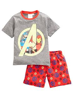 marvel-boys-marvel-avengers-shortie-pjs-greymulti