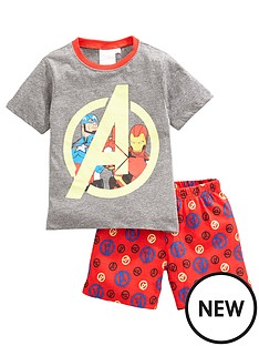 the-avengers-boys-marvel-avengers-shortie-pjs-greymulti