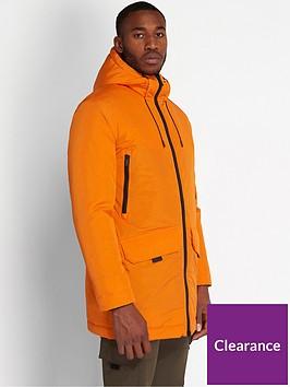 lyle-scott-casuals-wadded-longline-parka-orange