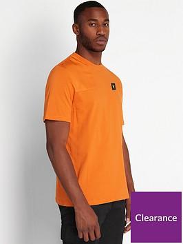 lyle-scott-casuals-ripstop-detail-t-shirt-orange