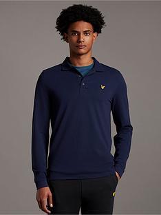 lyle-scott-long-sleeve-pique-polo-shirt-navynbsp