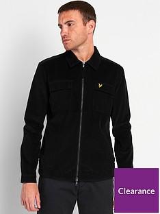 lyle-scott-cord-zip-through-overshirt-black