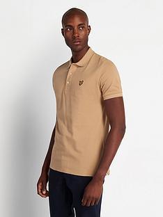 lyle-scott-plain-polo-shirt-sand