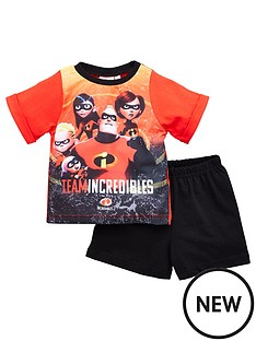 disney-the-incredibles-boys-disney-incredibles-shortie-pjs-red
