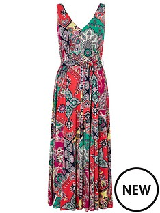 monsoon-carolyn-scarf-print-midi-dress-pink