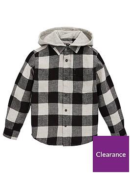 v-by-very-boys-hooded-check-shirt-grey