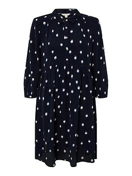 monsoon-dakota-dot-print-sustainable-short-dress-navy