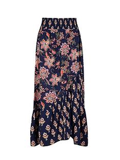 monsoon-floral-print-sustainable-viscose-skirt-navy