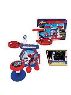 lexibook-my-rock-band-spidermannbspcomplete-drums-set-with-seat