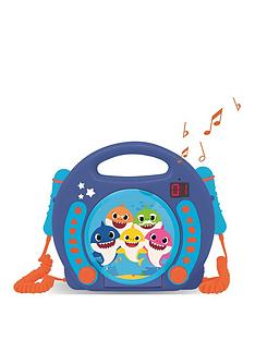 lexibook-baby-shark-portable-cd-player-with-2-sing-along-microphones
