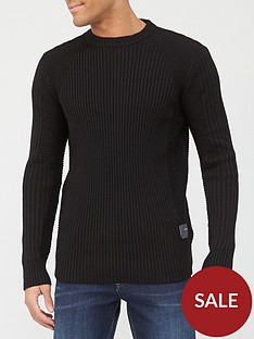 g-star-raw-3dnbspbiker-ribbed-knit-black