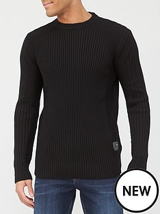 g-star-raw-3dnbspbiker-ribbed-knit-black