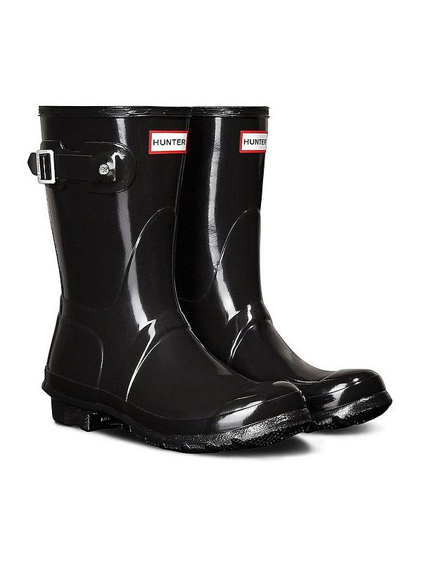 Shiny Wellington Boots Black