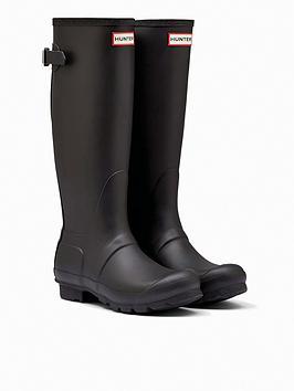 hunter-original-back-adjustable-welly-boots-black