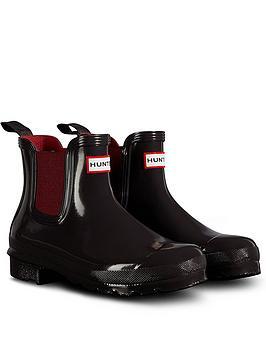 hunter-original-chelsea-gloss-welly-boots-black