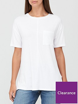 v-by-very-pocket-side-split-longline-t-shirt-white