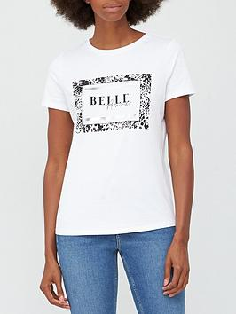 v-by-very-belle-amour-foil-slogan-t-shirt-white