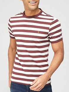 farah-belgrove-stripe-t-shirt-rednbsp