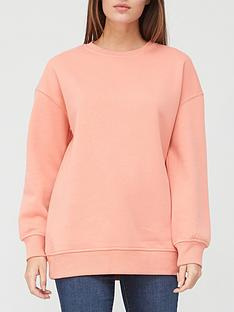 v-by-very-the-longline-crew-neck-sweat-blush