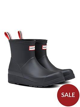 hunter-original-play-boot-short-welly-boots-black
