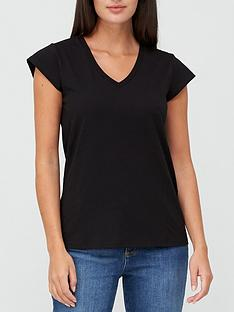 v-by-very-v-neck-side-seam-t-shirt-black