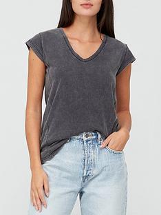 v-by-very-v-neck-side-seam-t-shirt-grey-marl