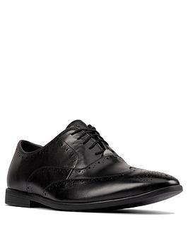 clarks-bampton-rhodes-leather-shoes-black