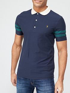 farah-radford-short-sleeve-polo-shirt-navy