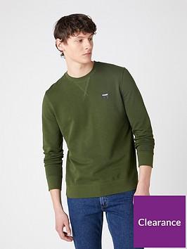 wrangler-crew-neck-sweatshirt-green