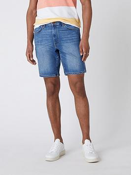 wrangler-denim-shorts-blue