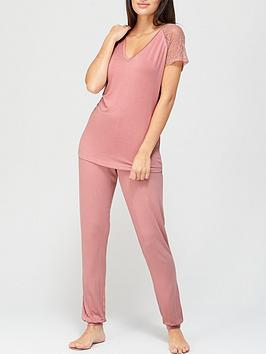 v-by-very-lace-sleeve-t-shirt-pyjamas-blush