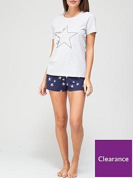 v-by-very-printednbsppyjama-setnbsp--star-print
