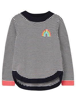 joules-girls-isabella-rainbow-stripe-knitted-jumper-navy