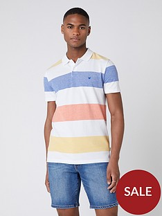 wrangler-block-stripe-polo-shirt-white