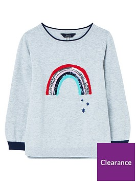 joules-girls-miranda-rainbow-knitted-top-grey