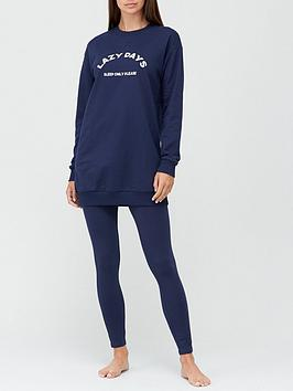 v-by-very-lazy-days-sweatshirt-ampnbsplegging-pyjamas-navy