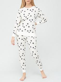 v-by-very-christmasnbspfleece-pyjamas-star-print