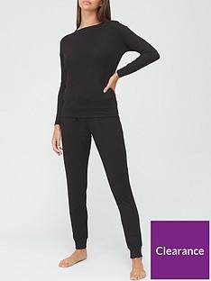 v-by-very-open-back-slouchy-pyjamas-black