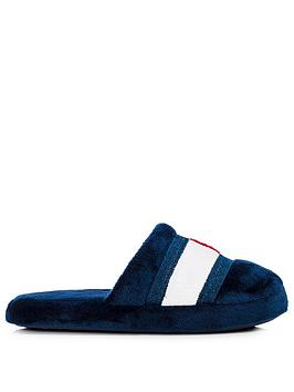 tommy-hilfiger-childrensnbspflag-logo-slippers-navy