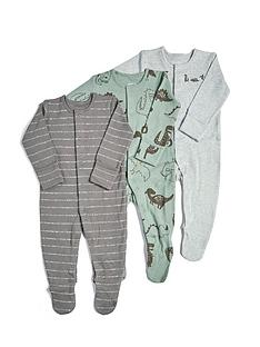 mamas-papas-baby-boys-3-pack-dino-sleepsuits-multi