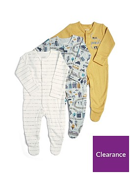 mamas-papas-baby-boys-3-pack-transport-sleepsuits-orange