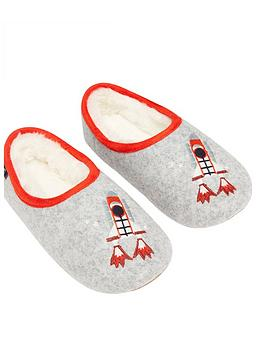 joules-boys-rocket-slip-on-slippers-grey
