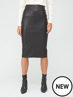 v-by-very-pu-midi-skirt-black