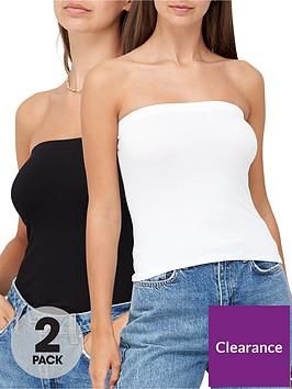 v-by-very-2-pack-boobtube-top-blackwhite